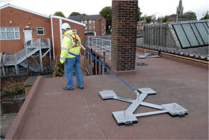 Deadweight Anchor System offers rooftop fall protection.