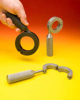 Hinged Shaft Collars have swing-away clamp handle.