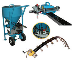 Mobile Waterjet Cutter is hydraulically controlled.