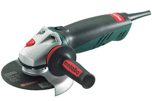 Angle Grinder features quick change wheel system.