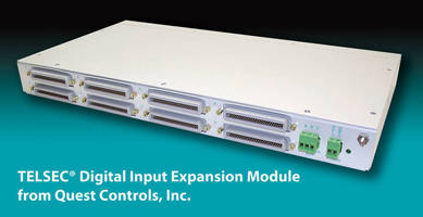 Digital Input Expansion Module fits in 19 or 23 in. rack.