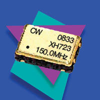 Oscillators are available in 5 x 7 mm surface mount package.