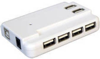 USB 2.0 Hub features 10 ports with power supply.