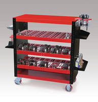 Tooling Carts can carry 2,800 lb tooling load.