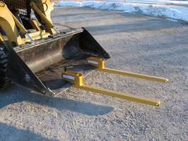 Clamp-On Bucket Forks are rated from 1,000-4,000 lb.