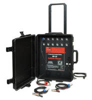 Pallet Charger has 12 independent 8 A charging channels.