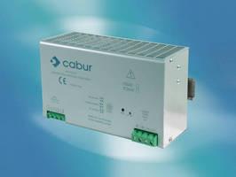 DIN Rail Mounted Power Supply provides 24 Vdc power.