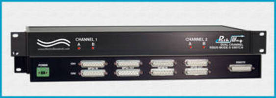 A/B Switch utilizes solid state high speed analog switches.