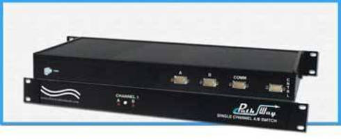 A/B Switch features remote and pushbutton control.