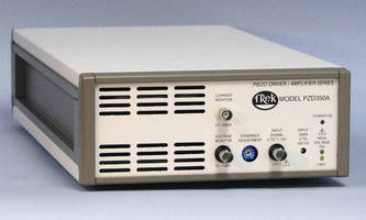 High Voltage Power Amplifier offers wide bandwidth.