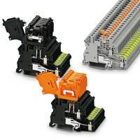 Terminal Blocks come with integrated PE grounding foot.