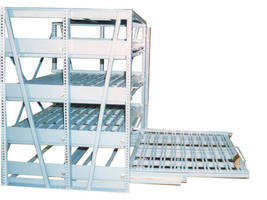 Roll-Out Shelves safely store press brake dies.