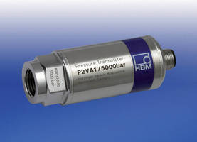Pressure Transducer has measures up to 5,000 bar.