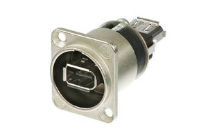 USB Connector features sealing ring for improved shielding.