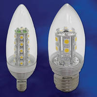 LEDs offer energy efficient alternative to chandelier bulbs.