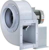 Blower features backward curved airfoil wheels.