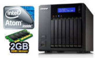 NAS supports eight 2.5 in. HDD/SSDs for storage up to 4 TB.