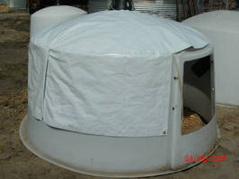 Fabric Dome Cover Reduces Heat Stress for Calves