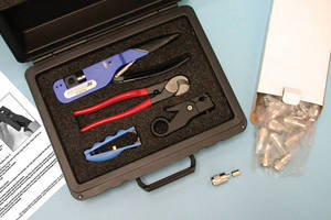 Kit simplifies installation of connectors and cables.