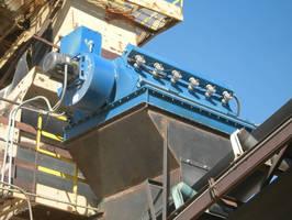 Dust Collectors control airborne dust at belt conveyors.
