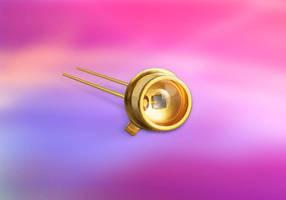 Photodiode has peak response at 660 nm wavelength.