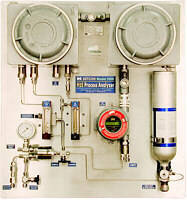 Process Analyzer measures H2S gas concentrations.