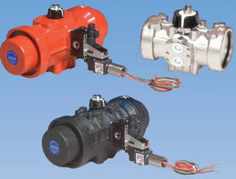 Pneumatic Actuator has quarter-turn rack and pinion design.