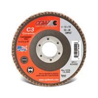 Ceramic Flap Discs are designed for heat sensitive materials.