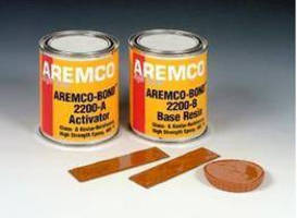 Epoxy repairs defects in corroded linings/stacks to 400°F.