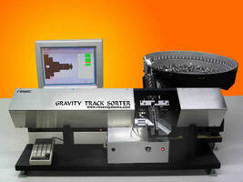 Gravity Sorter inspects screw-machine, cast, or molded parts.