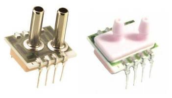 Low Pressure Sensor has metal tube and ceramic barbed ports.