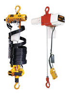 New Electric and Pneumatic Hoists