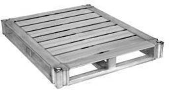 Closed Loop Aluminum Pallet is capable of racking 3,200 lb.