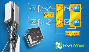 ADC operates on dual power supplies, 1.8 and 3 V.