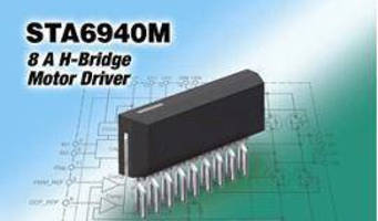 DC Brush Motor Driver is rated at operating level of 4 A.