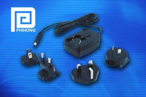 Adapters feature interchangeable AC input clips.