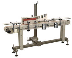 Labeling System has operating speed up to 100 products/min.