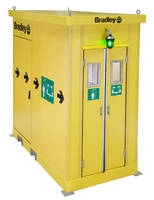 Enclosed Safety Shower is chemical and corrosion resistant.