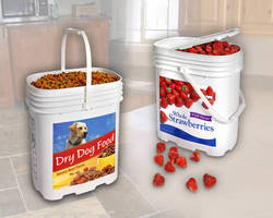 Rectangular Plastic Containers 4.25 gal capacity.