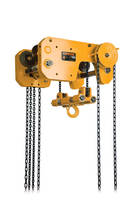 Trolley Hoists are available in 1 through 10 ton capacities.
