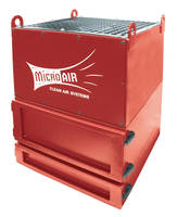 Compact Mist Collector operates at 600 cfm.