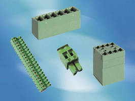 Miniature Terminal Blocks are available in 2-20 positions.