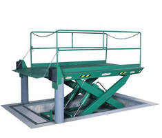 Hydraulic Dock Lift can move loads up to 50,000 lb.