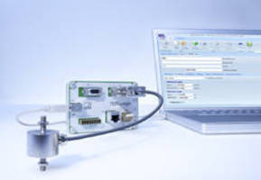 Dongle automatically configures transducers and sensors.