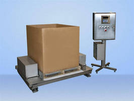 Container/ Bulk Bag Filler has compact, low profile design.