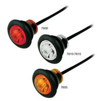LED Clearance Marker Lamps are rated up to 12.8 Vdc.