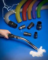 Conductive Vacuum Hose has abrasion-resistant flat exterior.