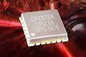 PLL/Synthesizer comes in 0.6 x 0.6 x 0.15 in. SMD package.