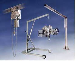 Stainless Steel Jib Cranes and Hoists for the Food Processing Industry