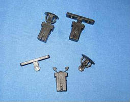 Door Latch and Striker provide audible lock and release.